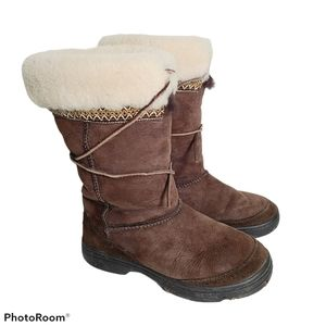 Ugg Boots Size 7 Ultimate Cuff Tall Shearling Fur